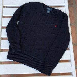 Polo by Ralph Lauren Cable Sweater Size 7